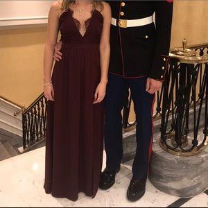 Formal / prom / maxi dress (wine color)